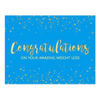 Blue Congratulations Weight Loss Achievement Postcard