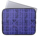 'Blue Construction' Patterned Computer Sleeve