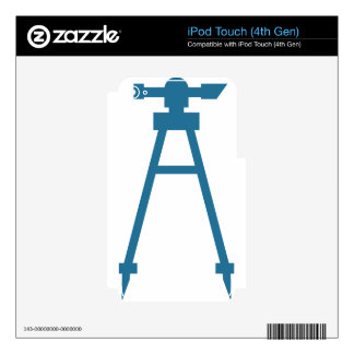 Blue Construction Tripod Icon iPod Touch 4G Decals