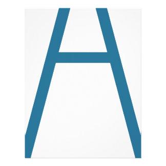 Blue Construction Tripod Icon Letterhead