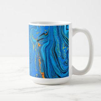 Blue contour backgrou mugs