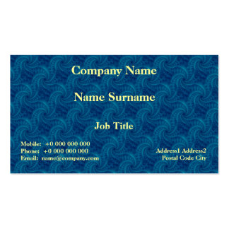 Blue Contrail Spiral Card Double-Sided Standard Business Cards (Pack Of 100)