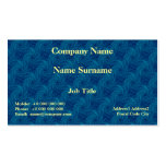 Blue Contrail Spiral Card Business Cards