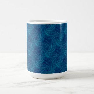 Blue Contrail Spiral Mug