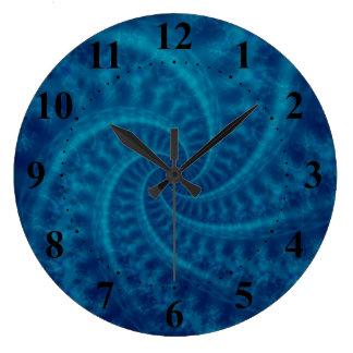 Blue Contrail Spiral Wall Clock
