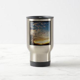 Blue Contrail Travel Mug
