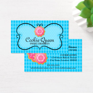 Blue Cookie Bakery Business Card