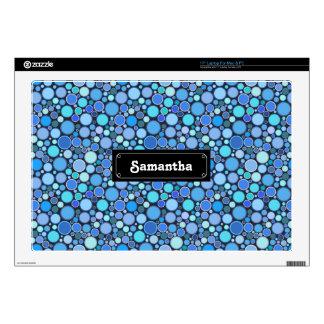 """Blue cool bubbles pattern 17"""" laptop skins"""