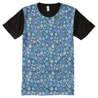 Blue cool bubbles pattern All-Over-Print shirt