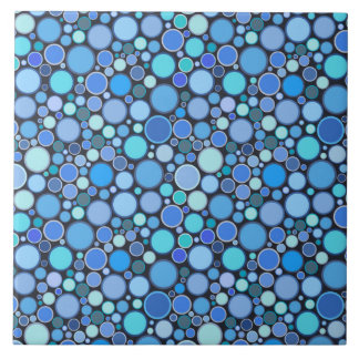 Blue cool bubbles pattern ceramic tile