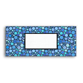 Blue cool bubbles pattern envelope