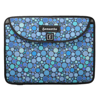 Blue cool bubbles pattern sleeve for MacBooks
