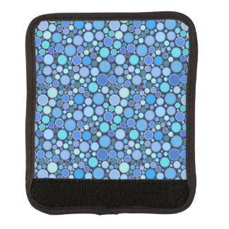 Blue cool bubbles pattern luggage handle wrap