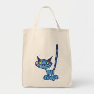 Blue cool cat Bag
