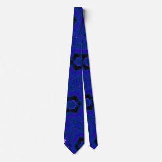 blue cool modern unique pattern tie