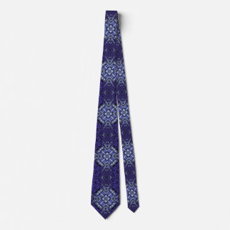 blue cool trendy pattern neck tie