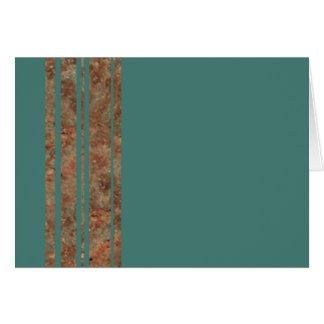 Blue & Copper Blank Note Card