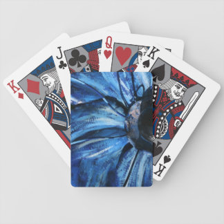 Blue Copper Flower Statue Playing Cards