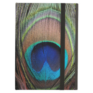 Blue Copper Peacock Feather Close-Up iPad Air Case