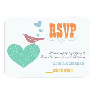 Blue Coral Mint Floral Typography Wedding Invites