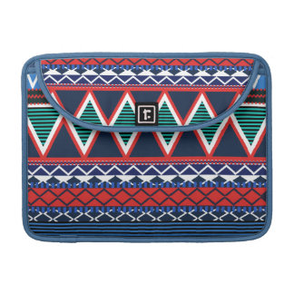 Blue & Coral Modern Tribal Macbook Pro Flap Sleeve Sleeve For MacBook Pro