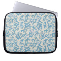 Blue Coral Pattern Laptop Sleeve