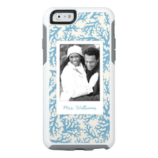 Blue Coral Pattern | Your Photo & Name OtterBox iPhone 6/6s Case