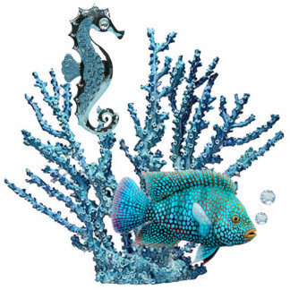 Blue Coral Reef Sculpture