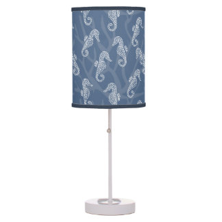 Blue Coral Reef Seahorse Table Lamp
