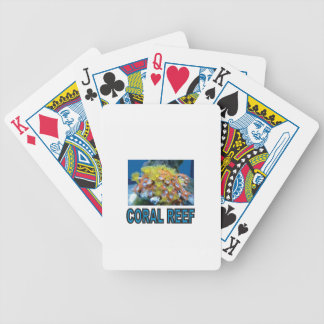 blue coral reef yeah bicycle playing cards