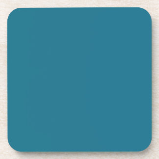 Blue Coral Steel Muted Teal 2015 Color Trend Beverage Coaster