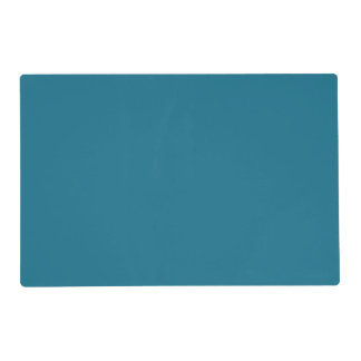 Blue Coral Steel Muted Teal 2015 Color Trend Placemat
