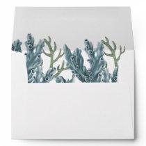 Blue Corals Under The Sea Wedding Envelope