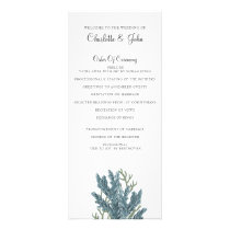 Blue Corals Under The Sea Wedding programs