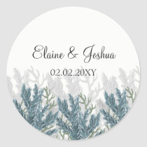 Blue Corals Under The Sea Wedding stickers
