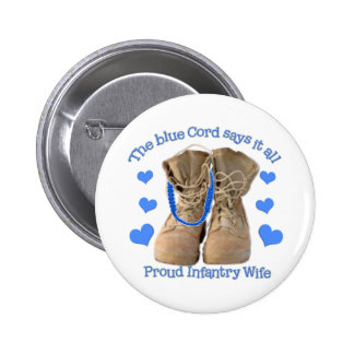 blue cord 2 inch round button