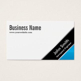 Blue Corner Aerospace Engineer Business Card