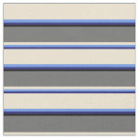 [ Thumbnail: Blue, Cornflower Blue, Beige, Dim Grey & Black Fabric ]