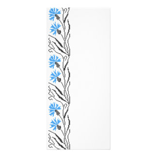 Blue Cornflower cross-stitch design Rack Card