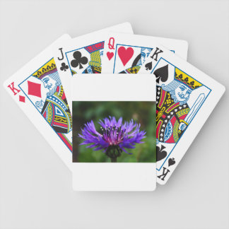 Blue Cornflower Flower Blossoms Peace Love Destiny Bicycle Playing Cards