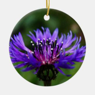 Blue Cornflower Flower Blossoms Peace Love Destiny Christmas Ornaments