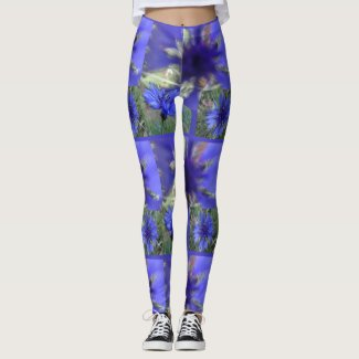Blue Cornflower Legging