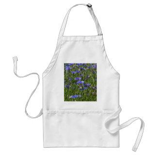 Blue cornflowers in a field adult apron