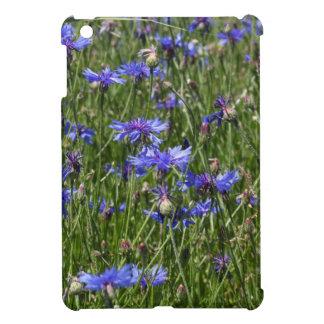 Blue cornflowers in a field iPad mini cases