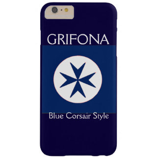 BLUE CORSAIR STYLE octagon cross Barely There iPhone 6 Plus Case