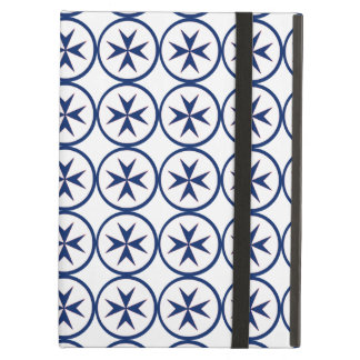 BLUE CORSAIR STYLE octagon cross Case For iPad Air