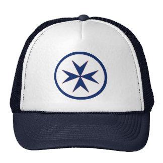 BLUE CORSAIR STYLE octagon cross Trucker Hat