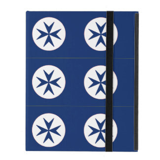 BLUE CORSAIR STYLE octagon cross iPad Cases