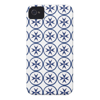 BLUE CORSAIR STYLE octagon cross iPhone 4 Cover