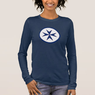 BLUE CORSAIR STYLE octagon cross Long Sleeve T-Shirt